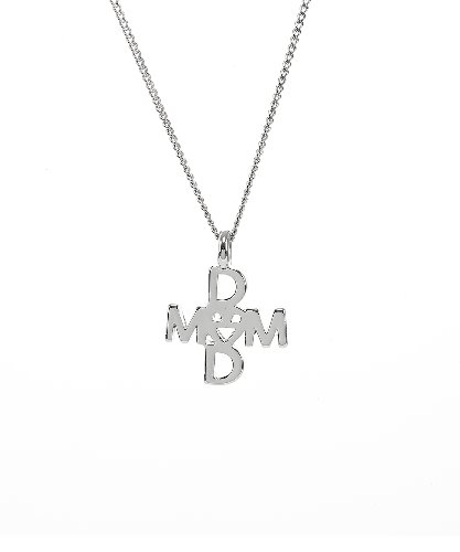 Mom&Dad Cross Necklace [Girl]